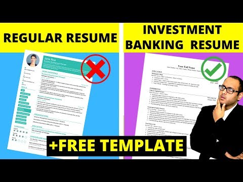 Investment Banking Resume & CV + FREE Template