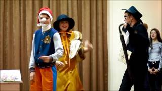 Рыцарский турнир 2017 - 9 А - Сценка Лиса Алиса и Кот Базилио (Буратино )
