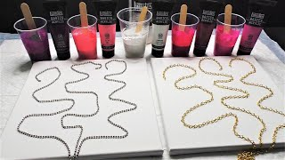 Fluid Art Chain Pull ! Acrylic Pouring String Pulling - Which Chain ?!