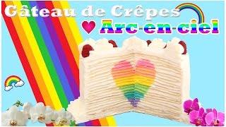 Recette de Gâteau de crêpes avec coeur arc-en-ciel - CARL IS COOKING