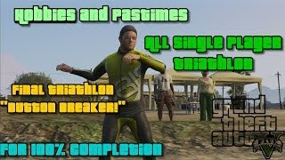 GTA V - Hobbies and Pastimes | All Single Player Triathlon + 100% completed