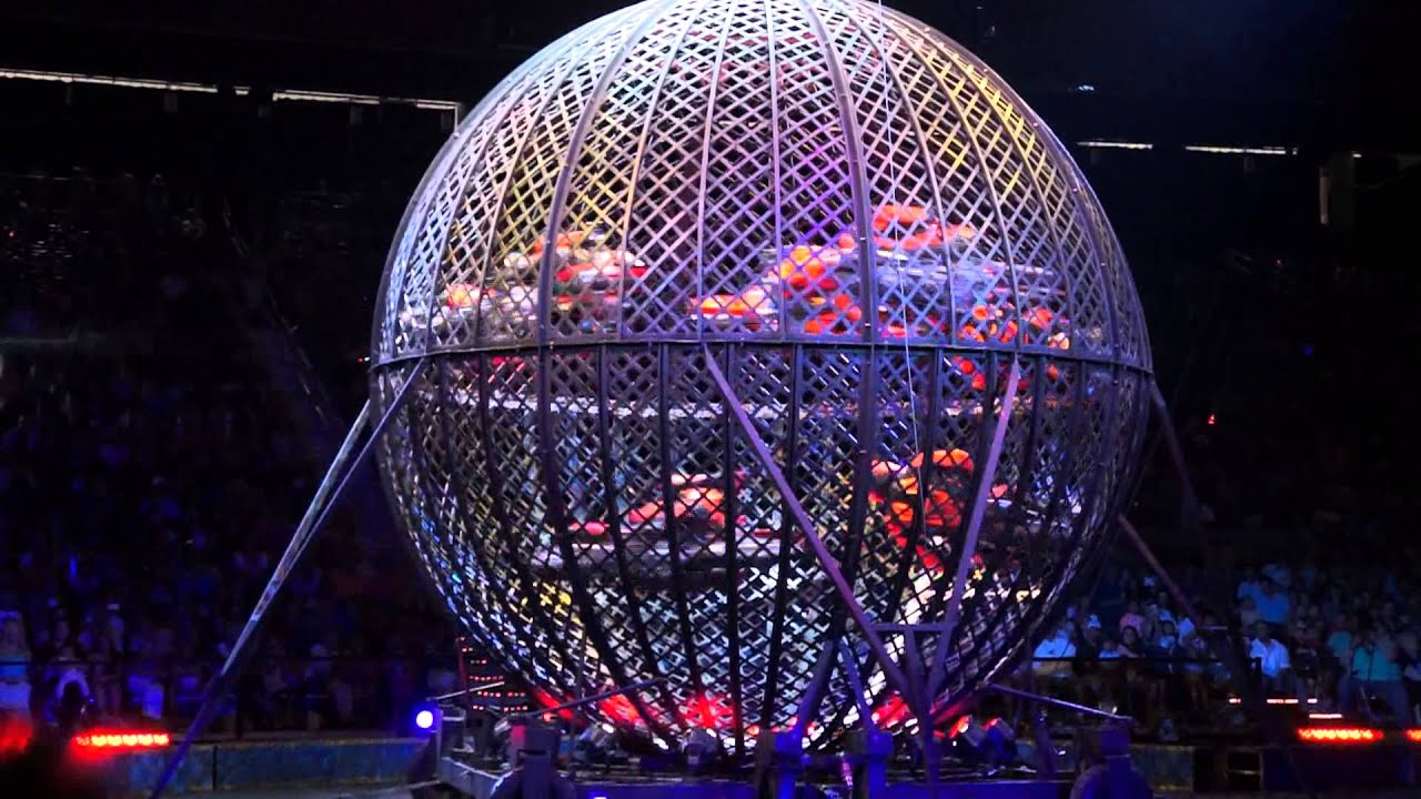 Ringling Bros Circus Globe Of Steel 7 Riders Youtube