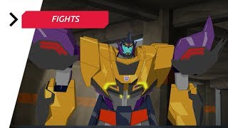 Transformers: Robots in Disguise — Combiner Force — The Bee Team & Blurr vs Dragbreak