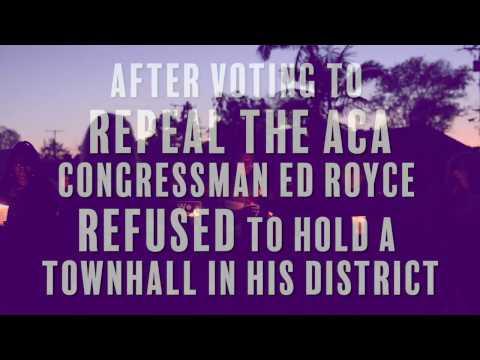 Ed Royce Townhall Vigil