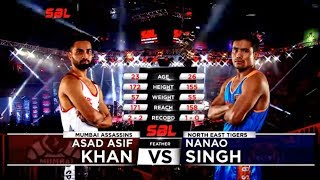 Asad Asif Khan v/s Nanao Singh |  Mumbai Assassins v/s North East Tigers
