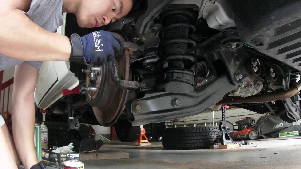 how to replace honda ridgeline 06 14 brake pads diy [ 1280 x 720 Pixel ]