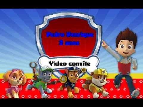 Vídeo Convite Pedro Henrique 2 Anos - Patrulha Canina