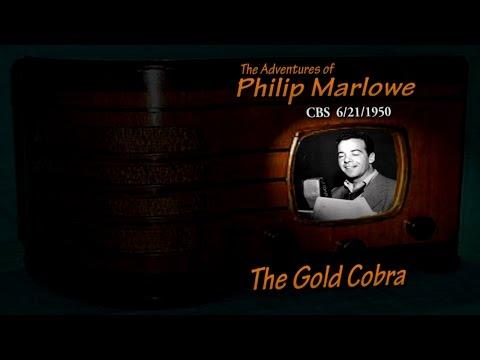 "Philip Marlowe ""The Gold Cobra"" CBS 6/21/50 Oldtime Radio Noir Crime Drama Gerald Mohr"
