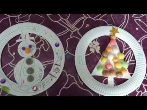Couronne de no l en carton youtube - Decoration noel a fabriquer facile ...