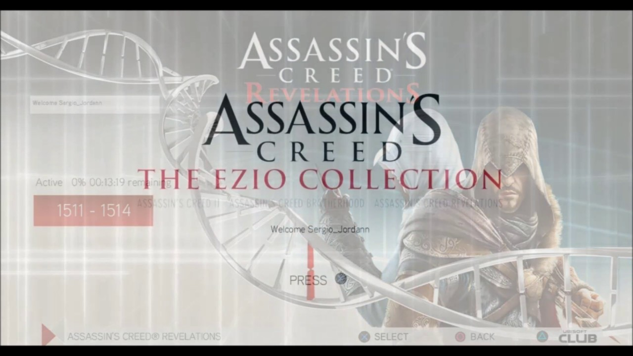 Assassin S Creed Ezio Collection Main Menu Youtube