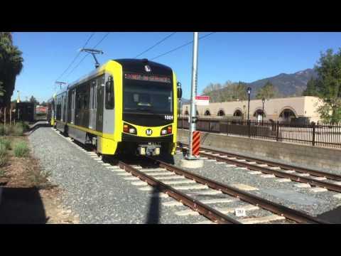 March 8, 2016: P3010 Kinkisharyo Train leaving Monrovia Station