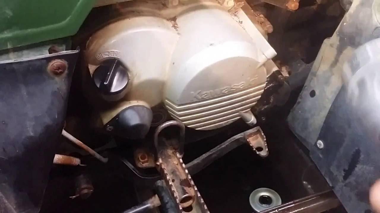 medium resolution of kawasaki bayou 220 oil change youtube kawasaki bayou 220 engine diagram
