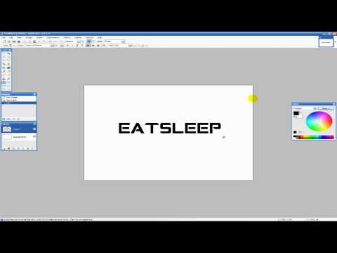 Basic Paint.NET Text Editing/Effects Tutorial - YouTube