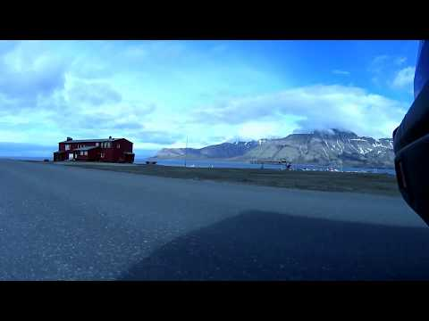 Driving from Svalbard Airport Longyearbyen