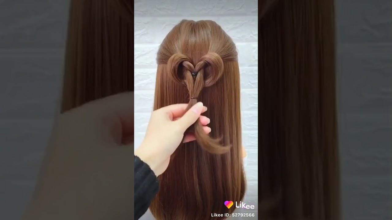 style cara mengikat rambut anak perempuan - YouTube