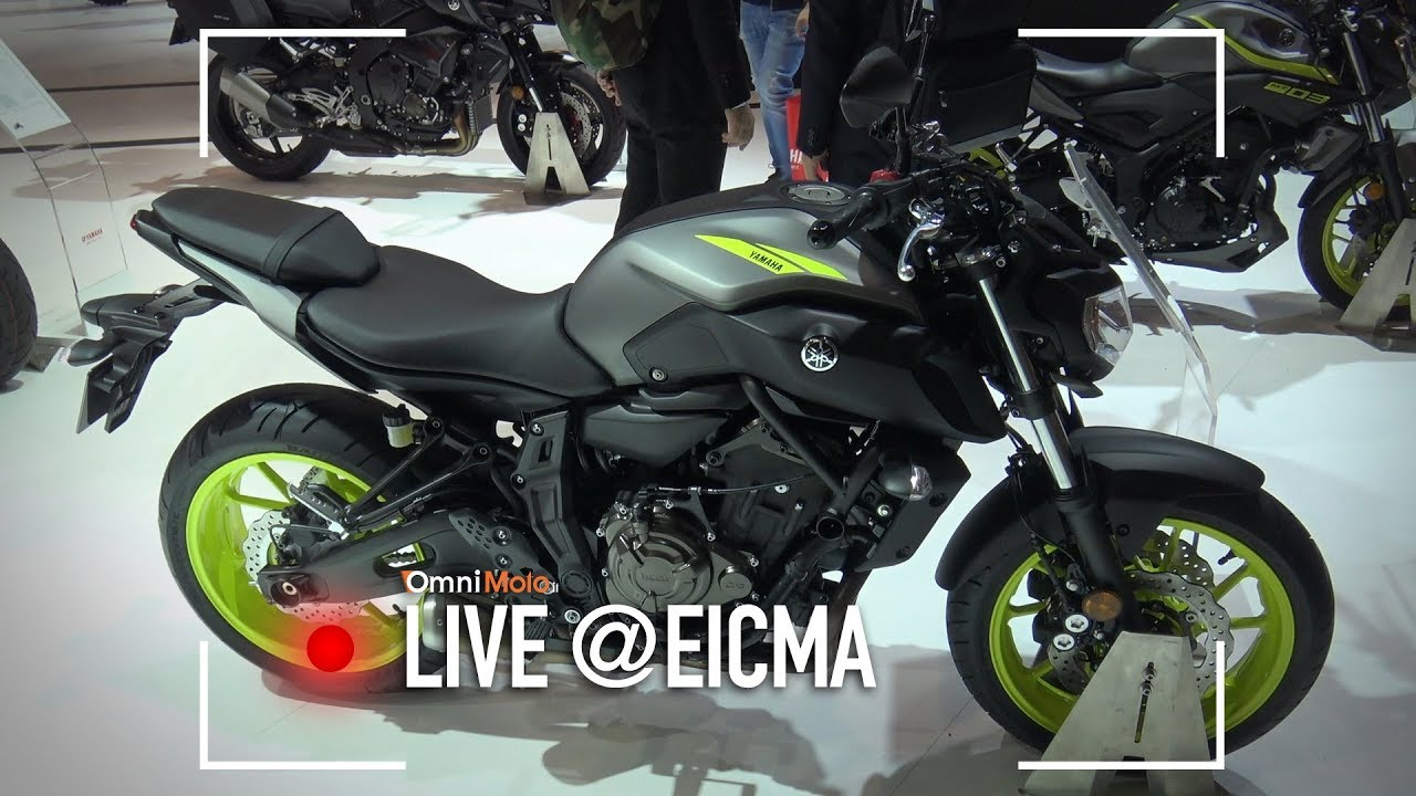 yamaha mt 07 2018 eicma 2017 youtube. Black Bedroom Furniture Sets. Home Design Ideas