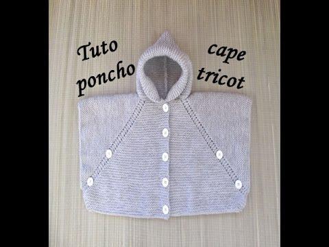Tuto Poncho Cape Tricot Toutes Tailles Poncho Cape Knitting Poncho Dos Agujas