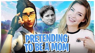 PRETENDING TO BE A MOM ON MY SONS ACCOUNT! (Fortnite: Battle Royale Trolling) | KittyPlays