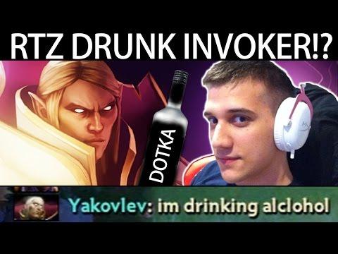 Drunk Invoker!!? Arteezy Pro Mid Lane Gameplay 7.05 META Dota 2