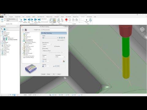 3D Offset Center-line - PowerMill 2018