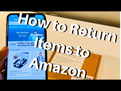 How To Return Items To Amazon! Easy