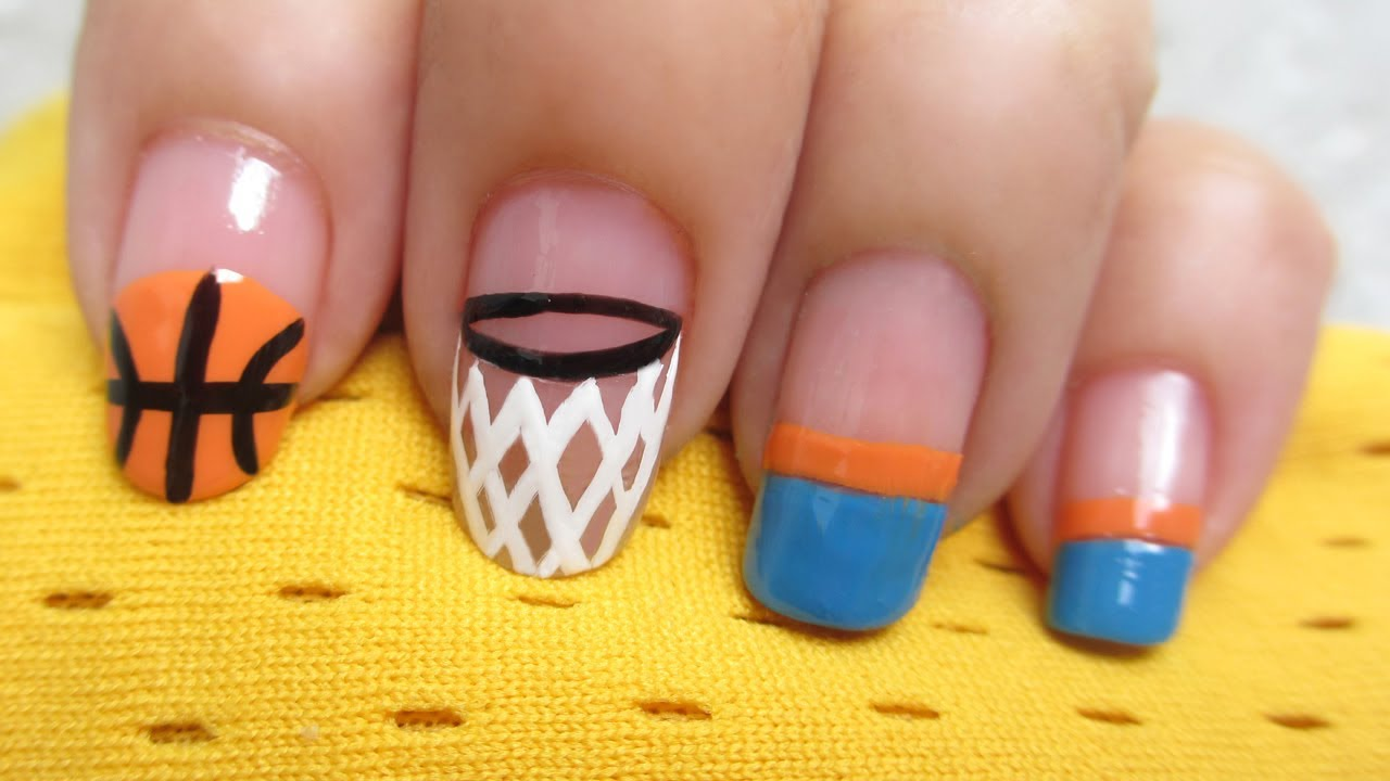 Basketball Nail Art - Basketball Nail Art - YouTube