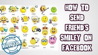 how to send friend's smiley on facebook...?!