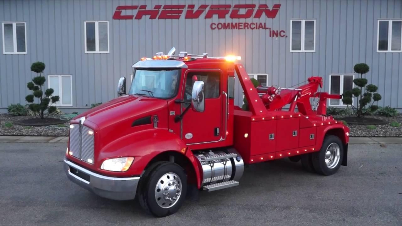 Kenworth T270 w/Chevron 512T Aluminum Integrated 12 Ton Wrecker - YouTube