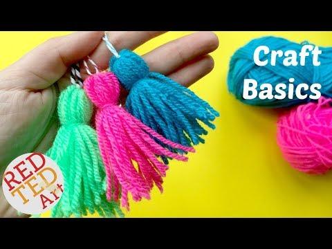 how-to-make-a-tassel---quick-&-easy-yarn-tassel-diy---craft-basics