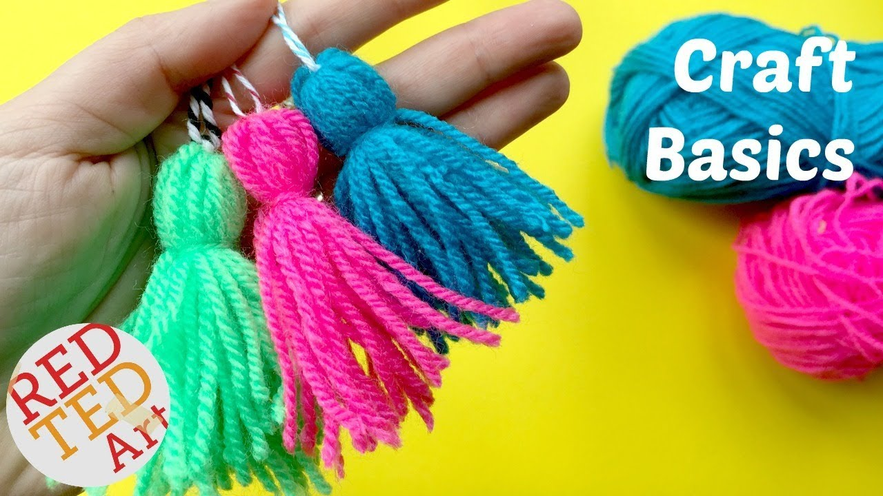 How To Make A Tassel Quick Easy Yarn Tassel Diy Craft Basics