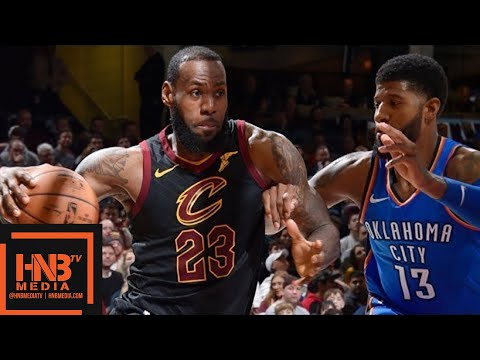 Cleveland Cavaliers vs Oklahoma City Thunder Full Game Highlights / Jan 20 / 2017-18 NBA Season