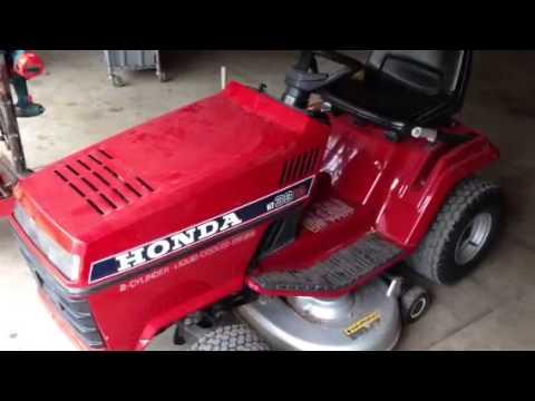 Honda ht3813 riding mower - info about deck bearings - YouTube