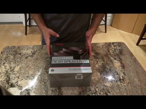 Rocketfish Universal Wireless Rear Speaker Kit Unboxing And Review