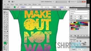 How To make distressed/Vintage  T-shirt Graphics with a crumbled piece of Paper. CS6 & CS5 tutorial