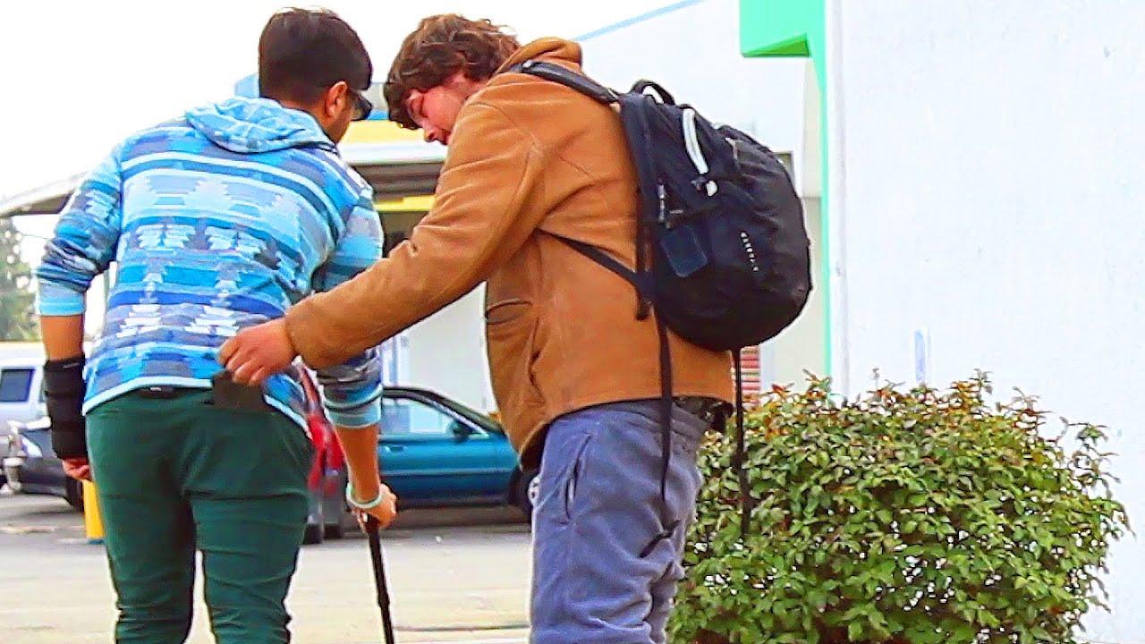 Rich VS Poor Blind Man Wallet Thief Social Experiment