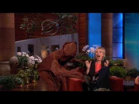 Jane Lynch Gets Scared by a Tree