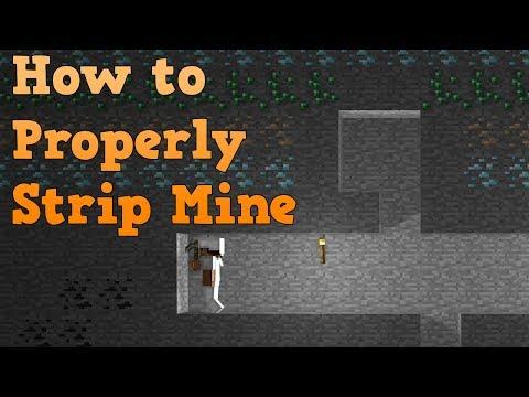 How to properly strip mine in minecraft
