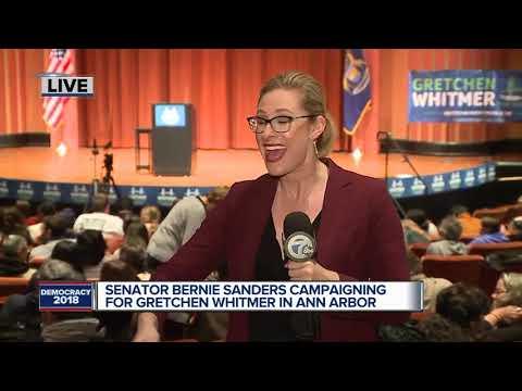 Sen. Bernie Sanders to rally for Gretchen Whitmer in Ann Arbor