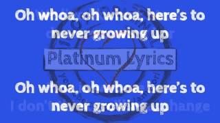 Video Avril Lavigne - Here's To Never Growing Up  - Platinum Lyrics Video - karaoke the best download MP3, 3GP, MP4, WEBM, AVI, FLV Juli 2018