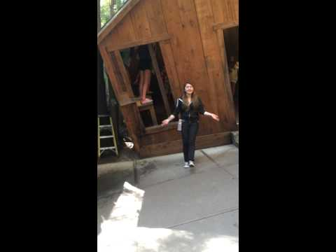 The Mystery Spot before you go inside
