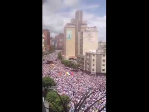 A million Venezuelans take to the streets peacefully to protest against Maduro TOMA DE CARACAS