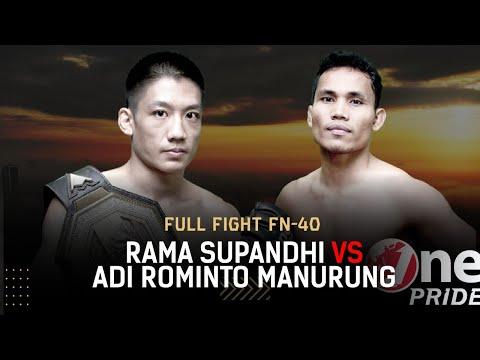 Partai Panas! 🔥 Rama Supandhi VS Adi Rominto    Full Fight One Pride MMA FN 40