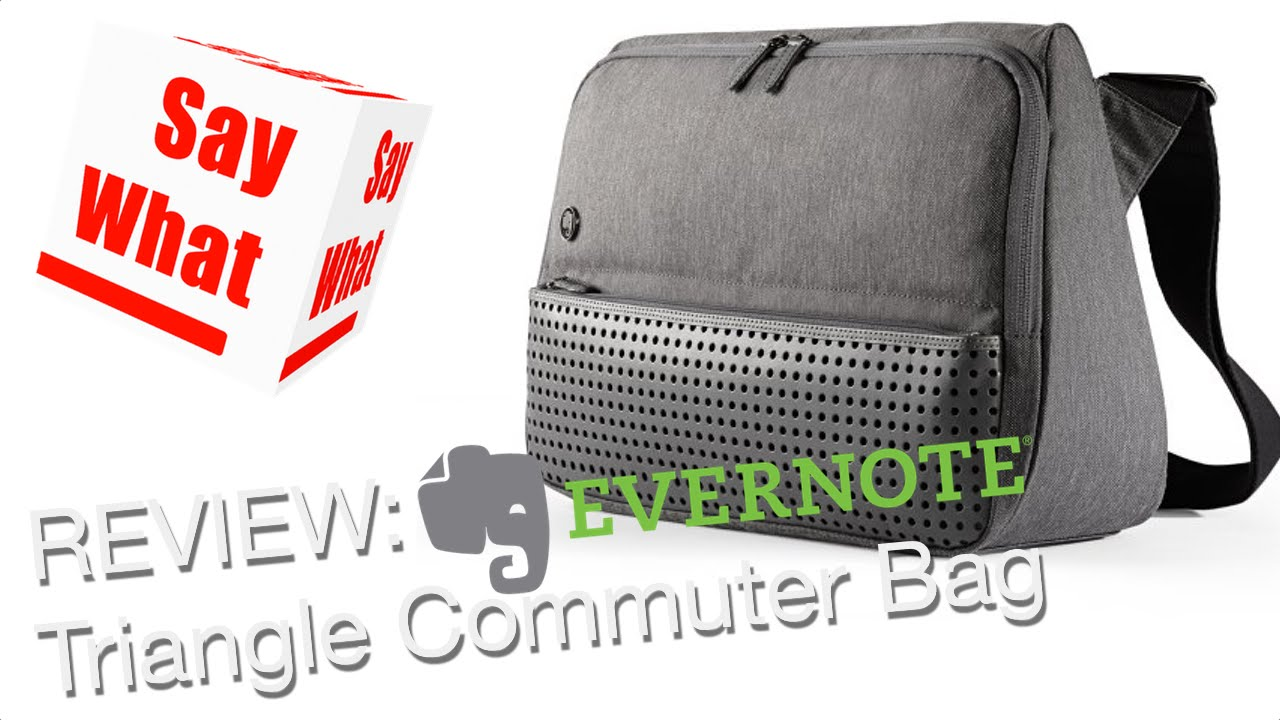 Review Evernote Commuter Triangle Bag