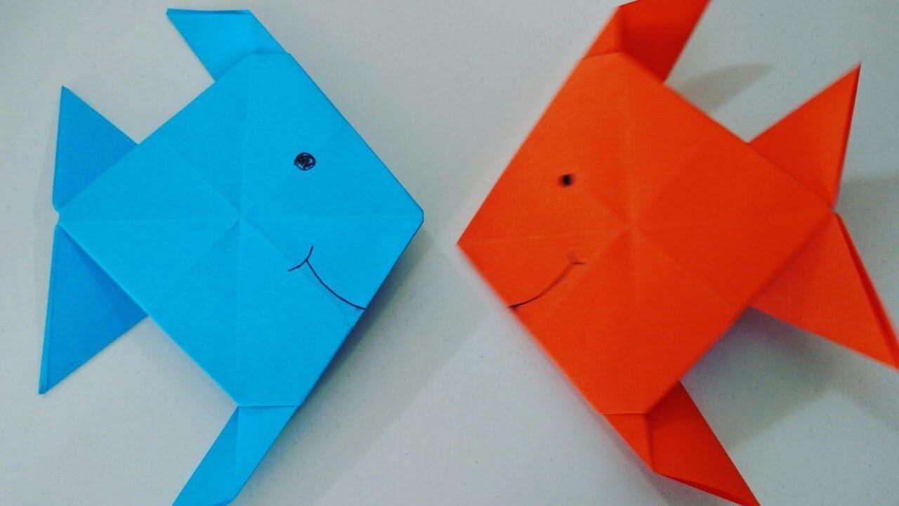 Como hacer un pez de papel muy facil manualidades para - Manualidades para ninos faciles ...