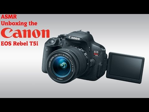 [ASMR] Unboxing the Canon EOS Rebel T5i 700D