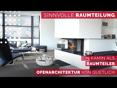 kamin von quetlich als raumteiler youtube. Black Bedroom Furniture Sets. Home Design Ideas
