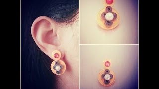How to Make Quilling Stud Earrings/Design 15/Tutorial