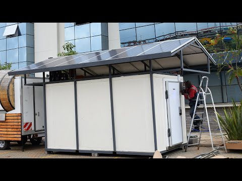Solar powered cold storage/cold room by Sheffield Africa.