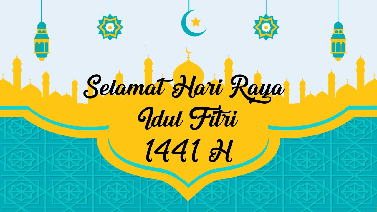 Template Ucapan Idul Fitri 1441h Part 7 Free Download Youtube
