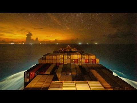 Watch a Stunning Time Lapse of a Container Ship Gliding Around the World